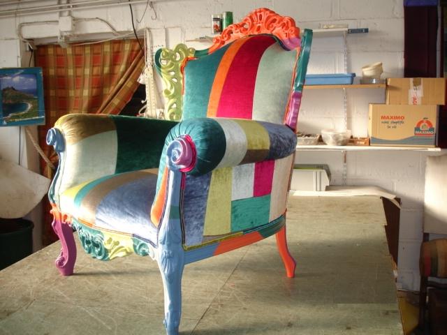 Assez artisan tapissier rouen-fauteuil patchwork | JPLECOMTE Tapisserie TQ08